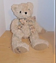 Vintage Two 1996 & 1997 Bears From Belk's Light Beige-Ribbon-Date on Foot - $14.99