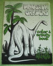 DINOSAUR GARDENS SOUVENIR Coloring Book VINTAGE 1981 VERNAL UTAH TOURIST... - $8.99