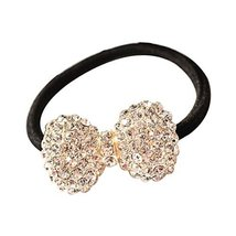 Set of 3 Hair Accessories Rhinestone Bow Tie Shape Hair Bands for Girls