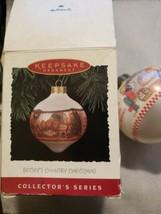 Betseys Country Christmas Glass Ball Santa 1994 Hallmark Keepsake Ornam... - $19.75