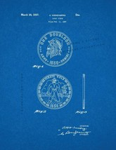 Lucky Piece Patent Print - Blueprint - $7.95+