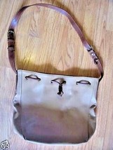 Liz Claiborne Leather Tote Purse Handbag Tan - $12.70