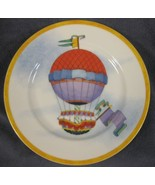 Williams-Sonoma Montgolfiere Salad Plate Red & Purple Hot Air Balloon Porcelain - $21.95