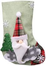 Christmas Stockings Snowman elkCandy Socks Storage Bag Christmas Hanging... - $12.22