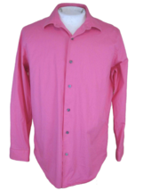 APT 9 Men shirt DRESS long sleeve sz 17½ pit to pit 24 slim fit hot pink... - $14.83