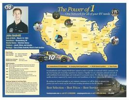2006 JOHN ANDRETTI #10 FREEDOMROADS POSTCARD SIGNED image 2