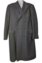 Lord And Taylor Wool Overcoat Topcoat Blue Mens Size 44 Long England - $106.91