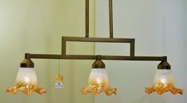 iridescent Glass Kitchen Linear Island Light Bronze Finish Kichler Lighting - $163.51