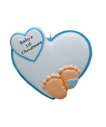 PERSONALIZED Baby Boy Footprint First Christmas Tree Ornament 2019 Newborn Gift - $26.99