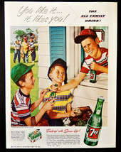 1953 7up 7 up soda baseball boys advertisement print ad   - $12.99