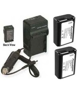 Two NP-FW50 Batteries +Charger for Sony NEX-3 NEX-5 DSLR-SLT-A33 SLT-A35... - $35.96