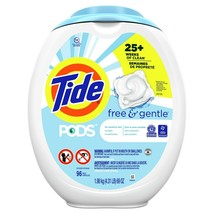 Tide PODS Free and Gentle Laundry Detergent, 96 Count - $29.63