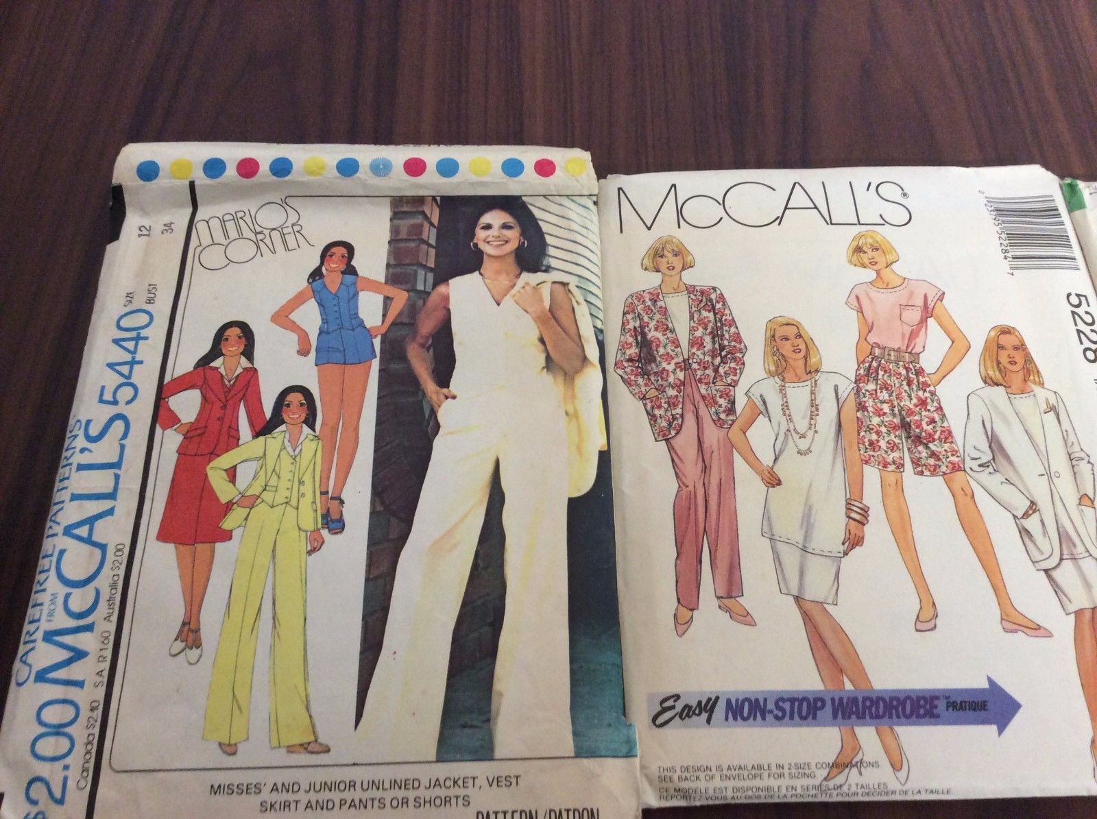 Lot of 8 vintage 1970-1990's Sewing Patterns Dresses, Blouses, Skirts, Career