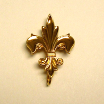 Gold Fleur De Lis Watch Pin ~ Vintage 12K Gold Filled Watch Pin - $37.99
