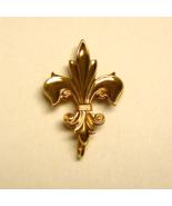Gold Fleur De Lis Watch Pin ~ Vintage 12K Gold Filled Watch Pin - £31.42 GBP