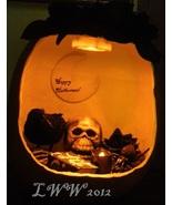 Handmade Jack-o-lantern Halloween Raven Skull Black Rose Spell Book Spider - $39.99
