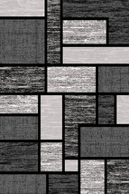 PREMIUM 3D Hand Carved Modern 5x7 5x8 Rug Contemporary 3995 Gray Grey - $119.00