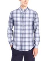 Calvin Klein Men's Long Sleeve Woven Plaid Lightweight Shirt   Sz M - $16.83
