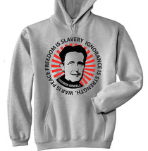 George Orwell - War Is Peace, Freedom - New Cotton Grey Hoodie - $31.88