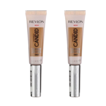 Lot of 2 Revlon Candid Natural Finish Anti-Pollution Foundation Deep Fon... - $11.88