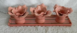 Studio B by Magenta Condiment Tray 3 Flower Shape Bowls Tray Candle Hold... - $59.99