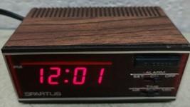 Vintage Spartus Horizon LCD Alarm Clock Model 1138 Woodgrain Snooze - WORKS! - $12.76