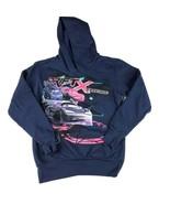 DISNEY PIXAR CARS Hoodie Kids Size 8 Blue Sweatshirt Jacket Long Sleeve Graphic - $18.80