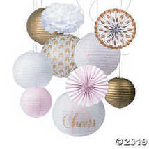 Cheers Pink & Gold Hanging Décor Kit - $41.24