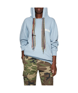 Unisex Ambush Oversized Multiple String Tie Logo Cotton Jersey Hoodie in... - $355.00