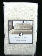 Hotel Collection Stitched Diamond Standard Pillow Sham Off White Creme C... - $32.66