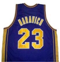 Pete Maravich #23 College Basketball Jersey Sewn Purple Any Size image 2