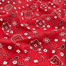 Richland Textiles Bandana Prints Red Fabric by The Yard image 4