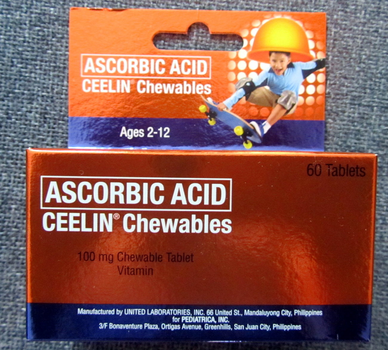 CEELIN Ascorbic Acid Chewable 60 Tablets for KIDS