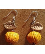 Autumn Handcrafted Pumpkin Earrings on Surgical... - $18.00