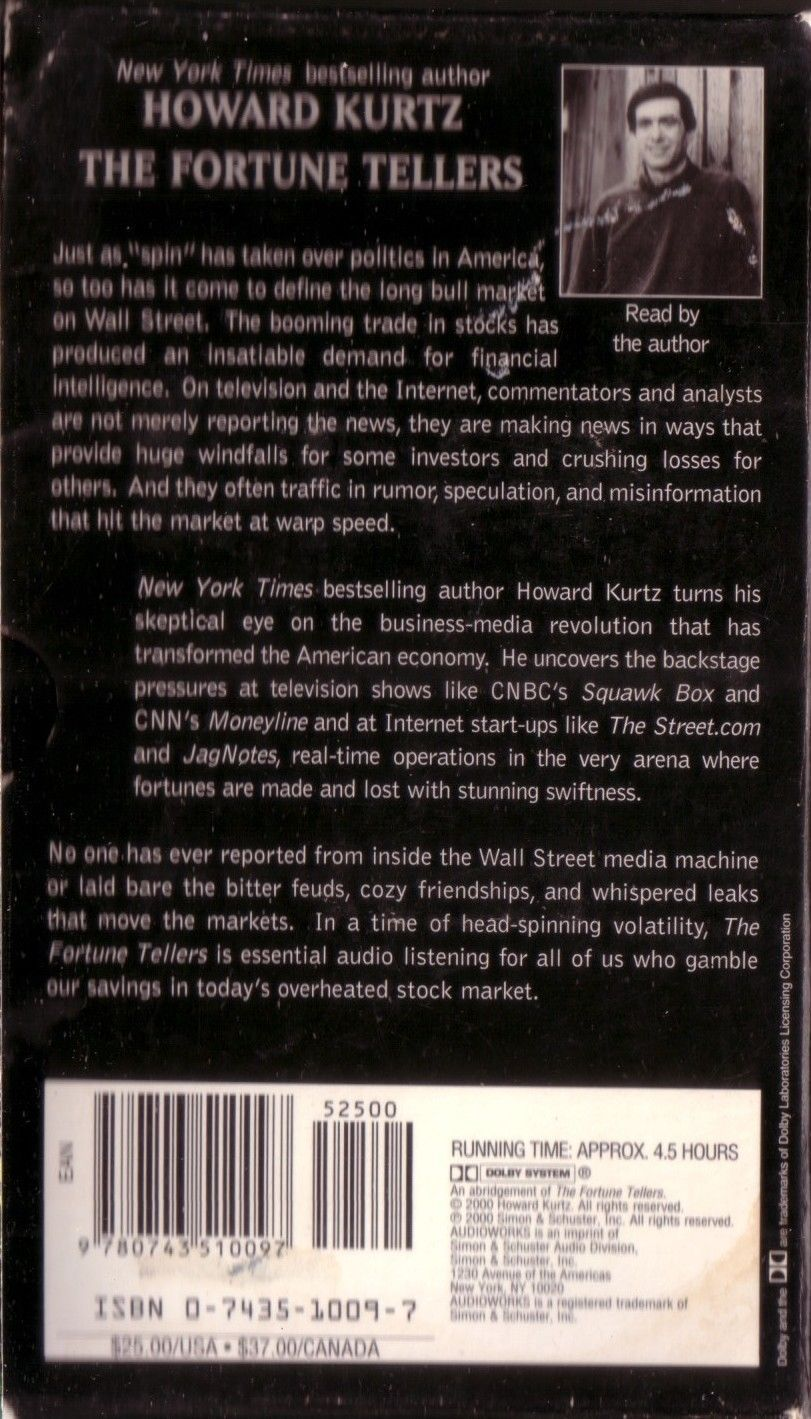 The Fortune Tellers Inside Wall Streets Game of Money Cassette Audiobook Kurtz