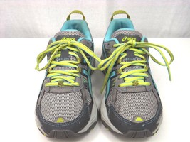 ASICS Gel-Venture 5 Trail Running Shoe T5N8N Silver Grey/Turquoise/Lime 6.5 EUC - $19.99