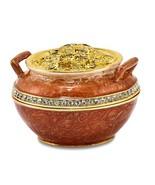 Bejeweled Crystal Enameled Pot of Gold Trinket Box - $69.99