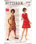 1960'S DRESS or JUMPER Pattern 4719-b Size 14 - $9.99
