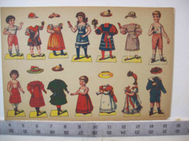 Vintage Paper doll sheets 4 - sheets only printing is Made in Germany - $39.99