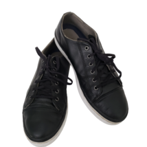 Cole Haan Womens Falmouth Low Top Sneakers Size 9 B Black Leather Lace Up - $24.75