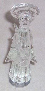 Murano Solid Crystal Sculptured Angel Clear Glass ART ITALY