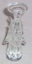 Murano Solid Crystal Sculptured Angel Clear Glass ART ITALY - $114.00