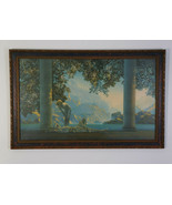 DAYBREAK Maxfield Parrish Print Original Frame Antique - $1,495.00