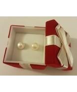 Avon 2011 8mm Freshwater Pearl Earrings in Present Gift Box Pierced - $16.82