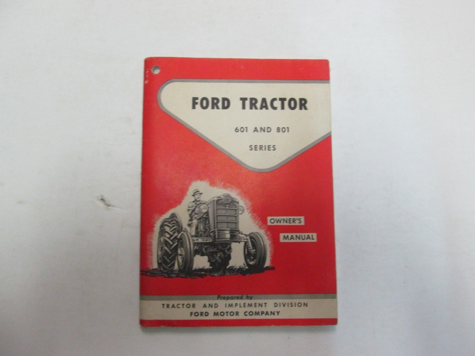 Ford Brochure 1950s 203 Listings Wiring Diagram 1956 Fairlane Sunliner 1958 Tractor 601 801 Series Owners Manual Minor Fading Wear Stains Oem 58 1975