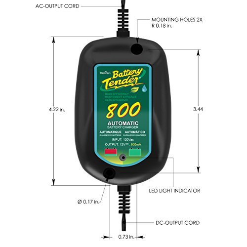 Battery Tender 800 is a SuperSmart Battery Charger that will Constantly Monitor,