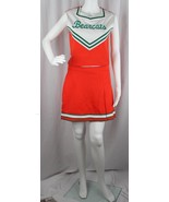 Teamleader cheerleader adult uniform Bearcats orange top and skirt size 36  - $32.32