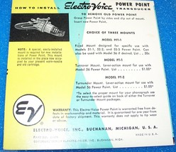 Electro-Voice EV 53-3 Zenith 142-80 87 cartridge needle for Astatic 93T3 78 RPM image 2