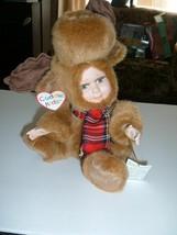 CHRISTMAS Geppeddo  Cuddle kids Morris moose 2001 with Tags Kids in fuzz... - $8.90