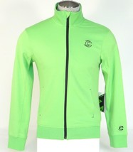 Cannondale Men's Bright Green Zip Front Stretch Track Jacket Men's 88460... - $71.24